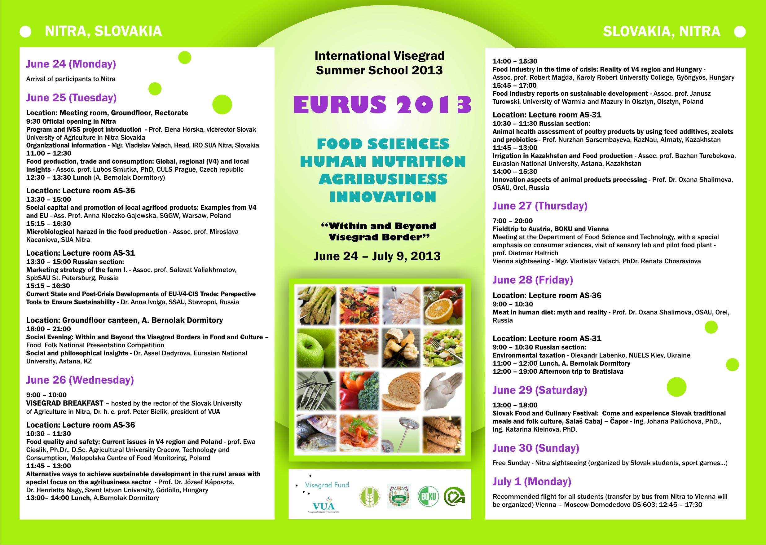 Visegrad Summer School: EURUS AGRI